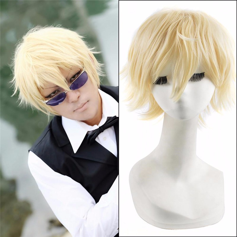 Short Straight Anime Durarara Shizuo Heiwajima Cosplay Wig,Harajuku Male Wigs,Cheap Hetalia Cosplay wig