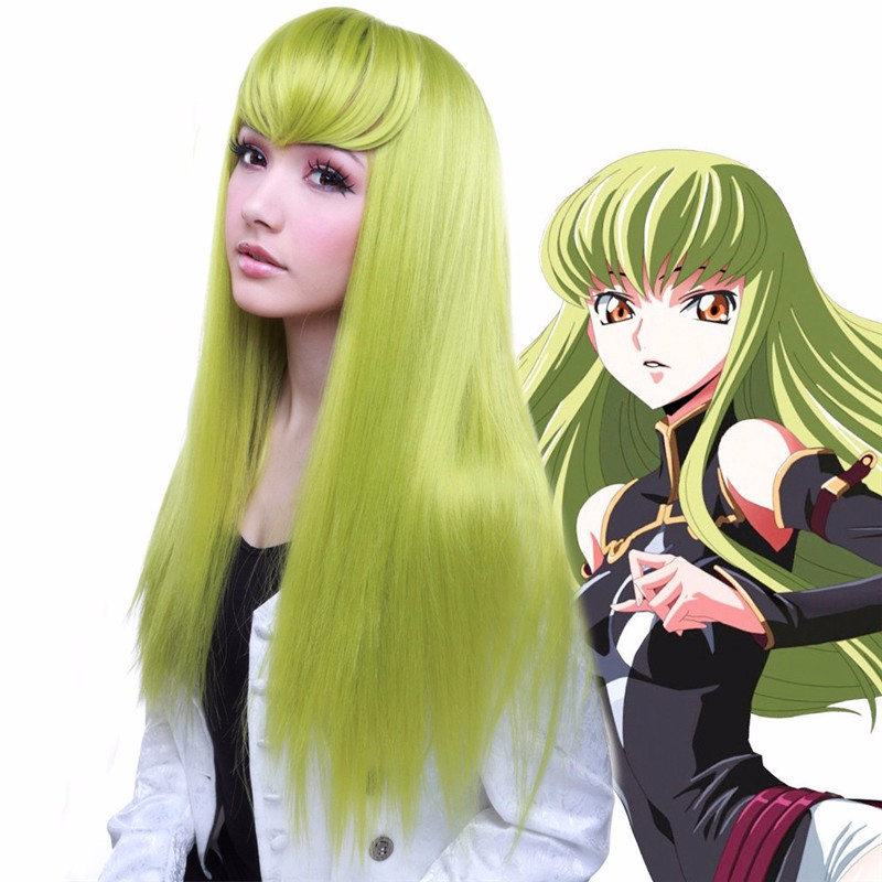 Code Geass Green wig,code geass cc cosplay wig