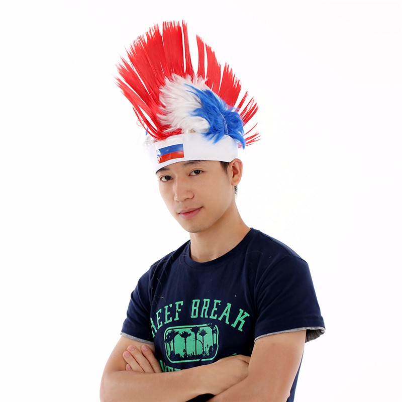 The Mohawk style Sports Fan Wigs