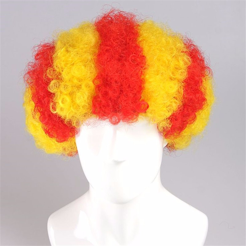 Spain BARCELONA Catalonian flag Wig Spain afro wig