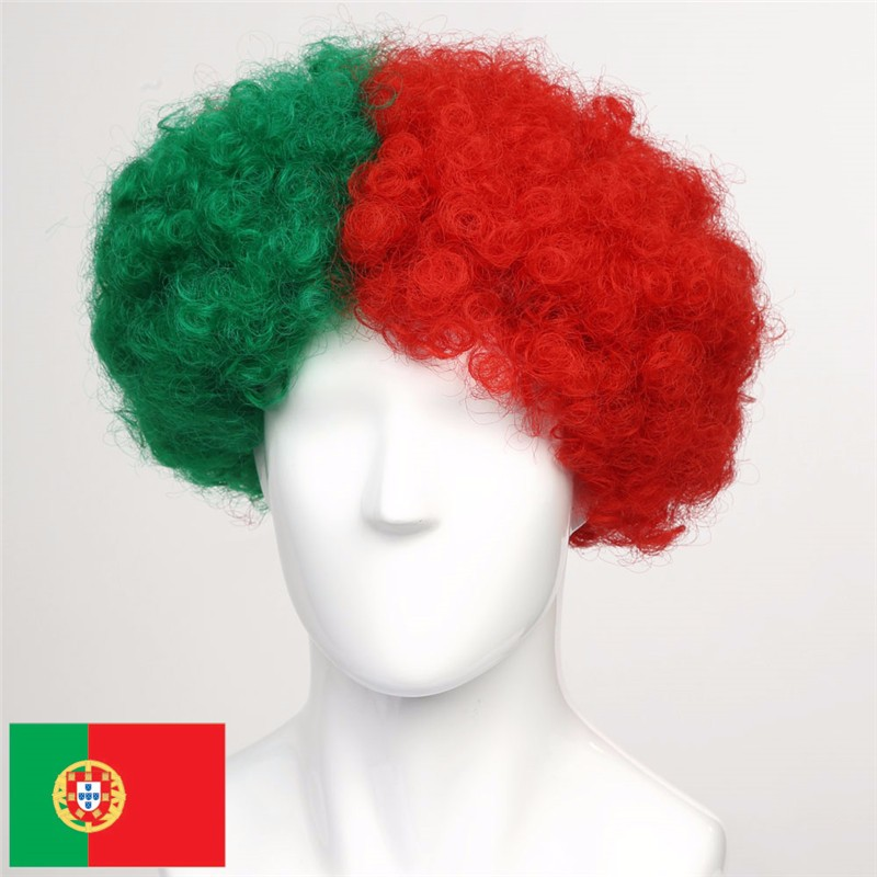 Portugal Mullet Portugal Afro Wig,C. Ronaldo Fan wig