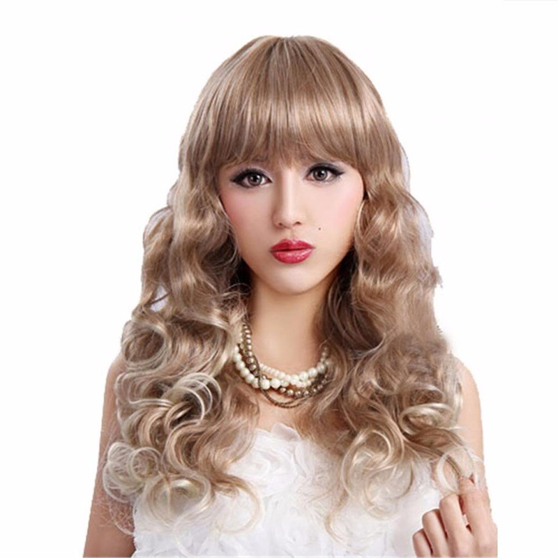 Synthetic Cute Harajuku style curly wig