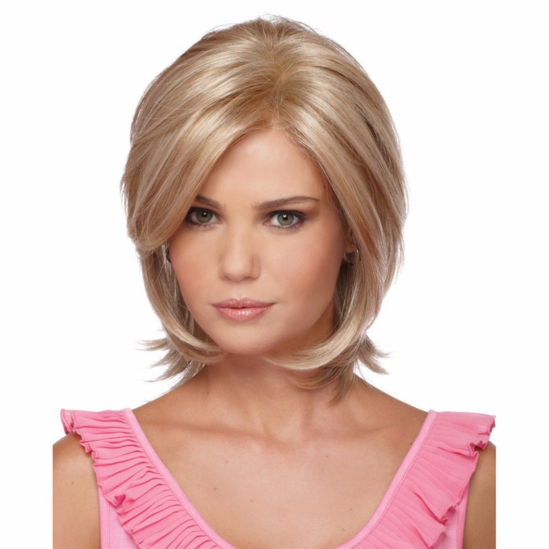synthetic natural looking Short blonde christina wig