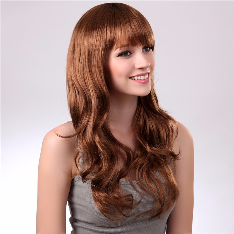 Synthetic neat bang Grosir western hair style wig