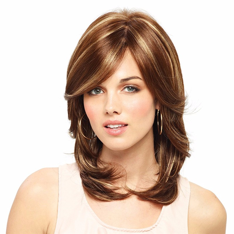 Mixed Highlight color natural European style kelly wig by amore