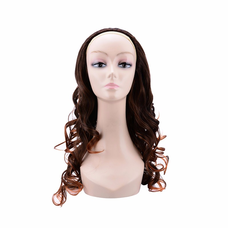 Long curly 2/30 color half wig