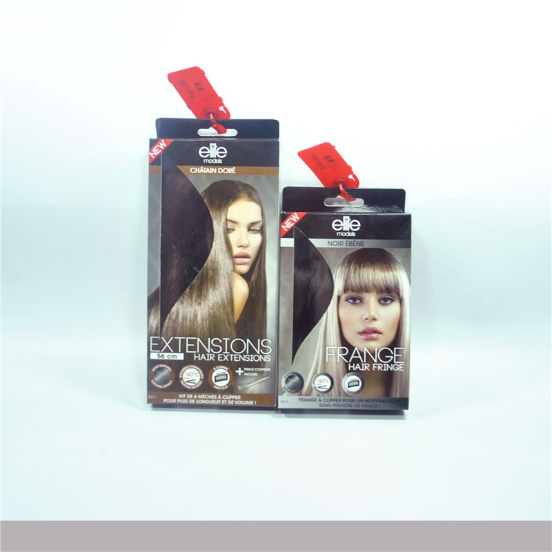 Hair extension and fringe box