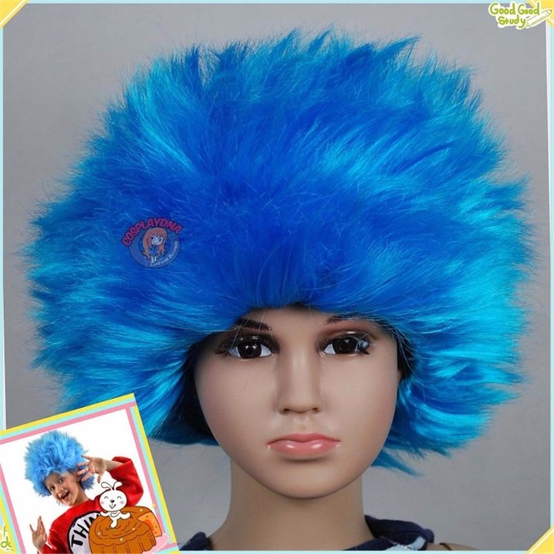 Thing1 thing2 Blue Halloween Kids children Baby wig