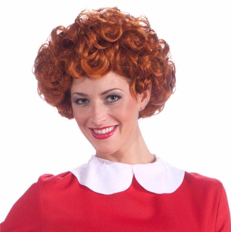 Adult Little Orphan Annie Red Curly Wig