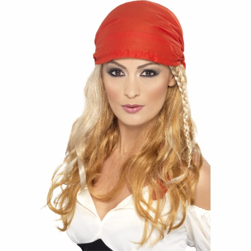 Blonde Femal Pirates makeup set pirates wig