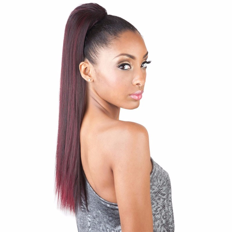 Silk straight drawstring Weave Ponytail