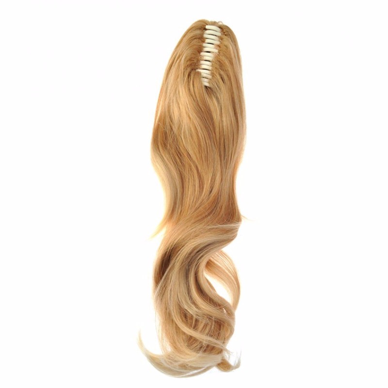 Natural wavy honey blonde claw Synthetic Ponytail