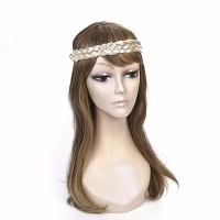 Blonde Bohemian style head wear band