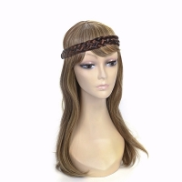 Black mixed Brown Natural Elastic head wear band