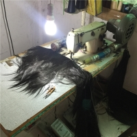 Sewing machine to sewing the weave firmly
