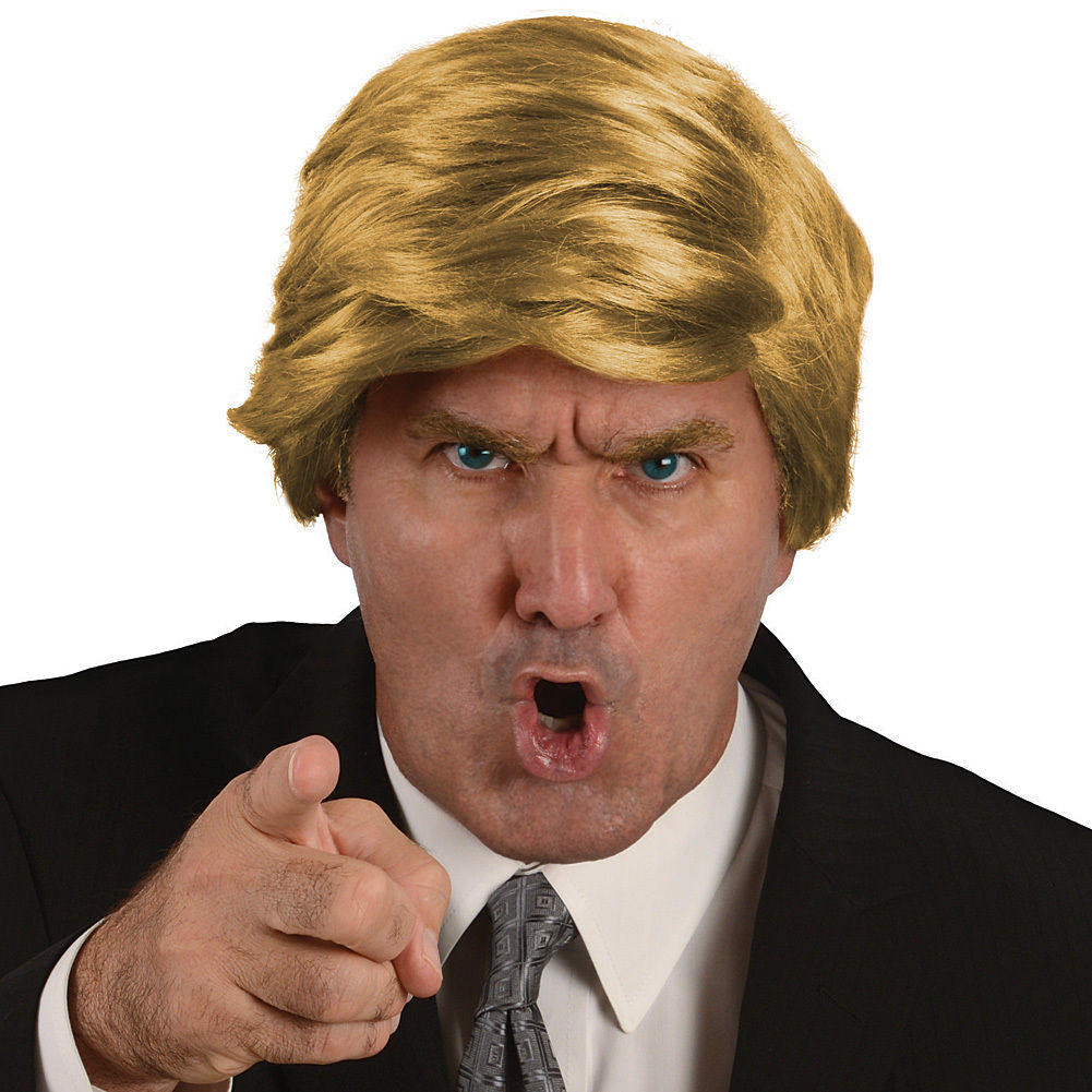 Donald Trump Combover synthetic wig,donald trump halloween costume wig