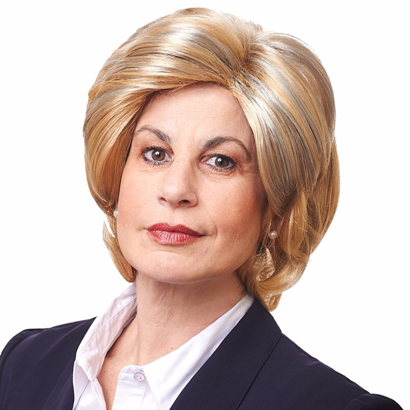 mixed blonde madame president wig,hillary clinton costume wig