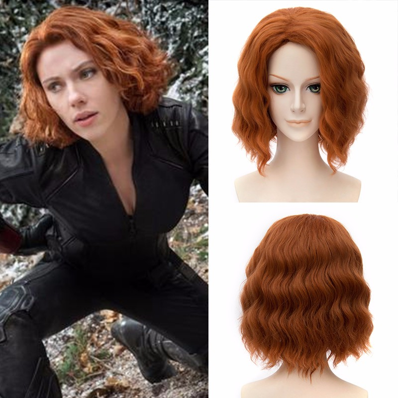 Avengers  Age of Ultron Black Widow Cosplay Wig