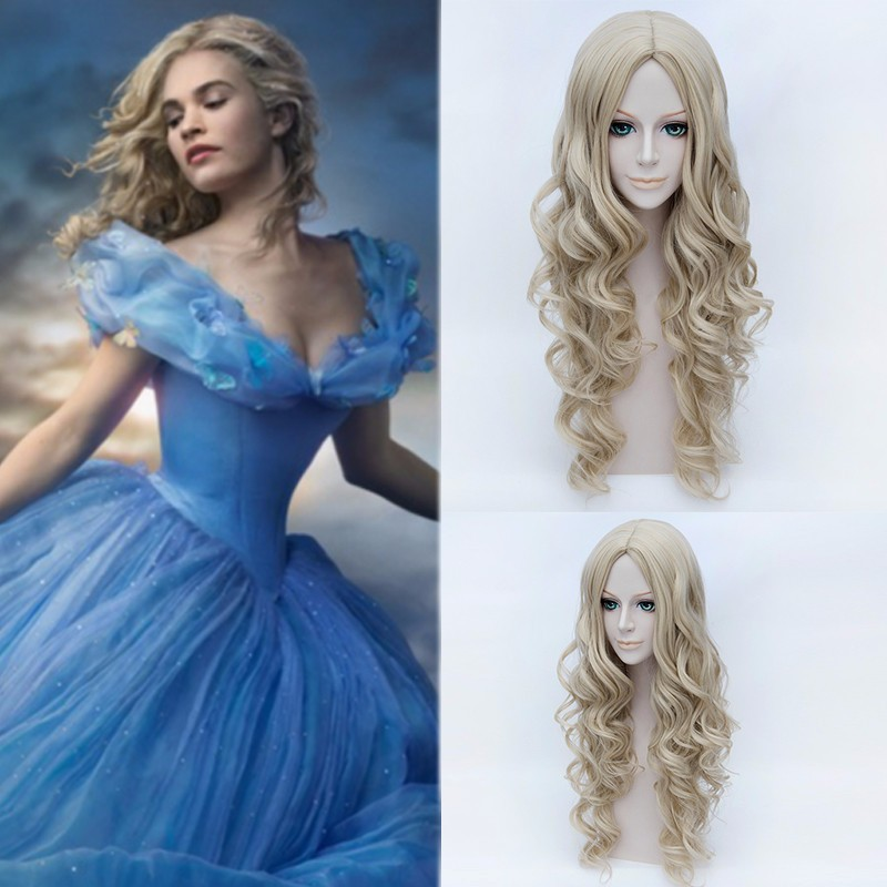 Synthetic cosplay Cinderella wig