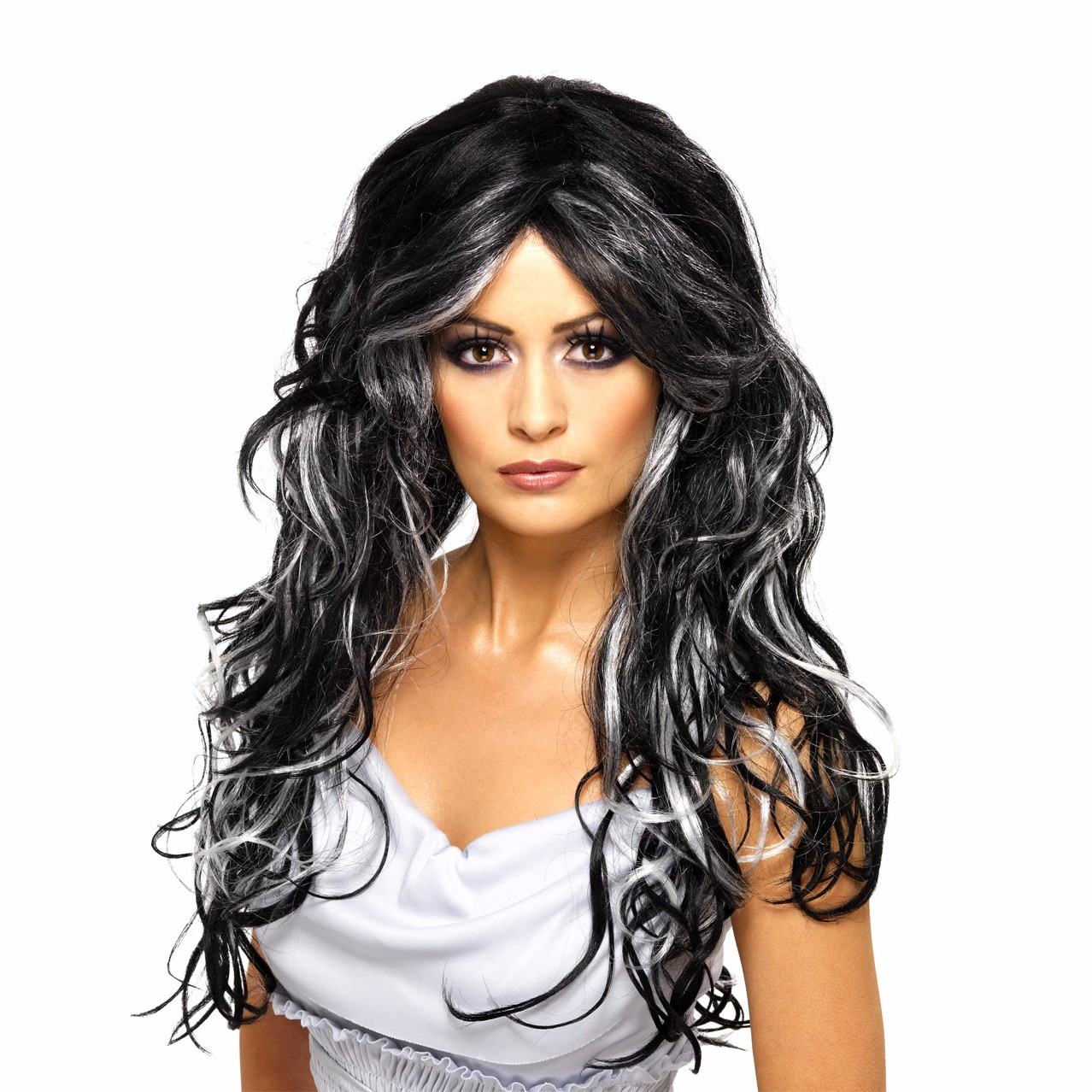 synthetic gothic bride wig