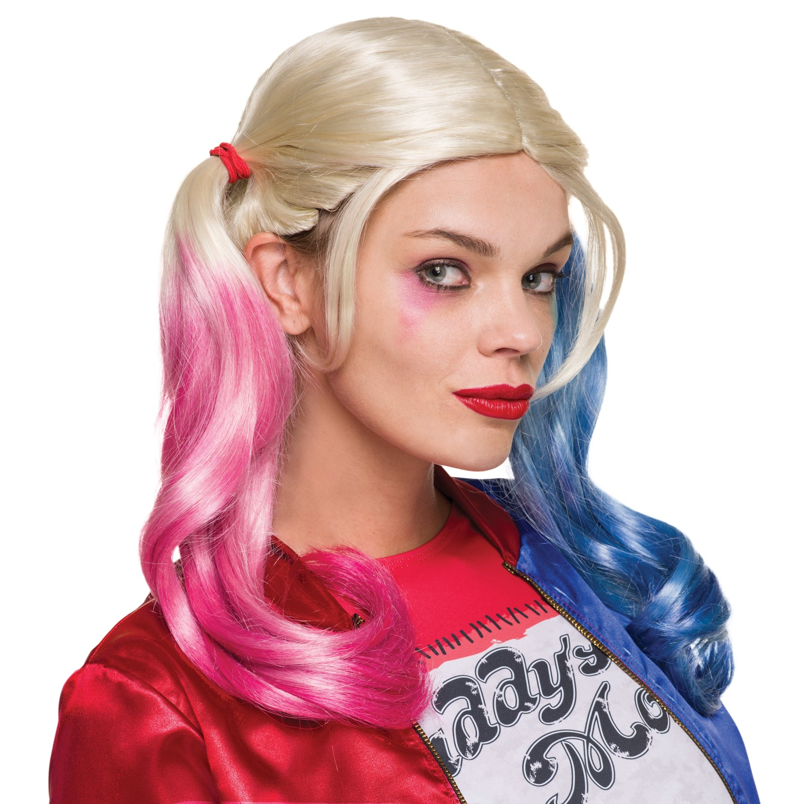 synthetic harley quinn girls costume wig