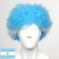 Afro cheer wig flag wig