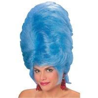 Old fashion 60s vintage very high blue beehive wig